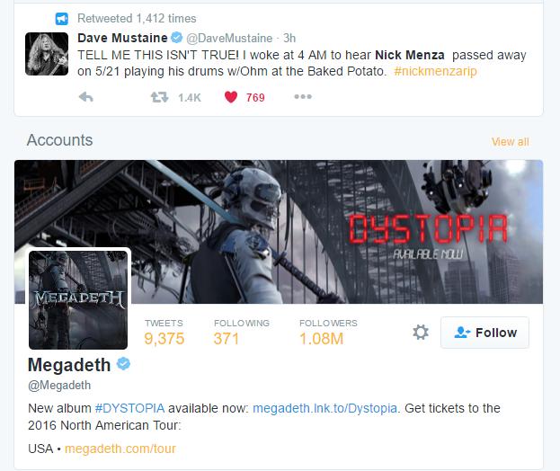 Twitter Dave Mustaine (22-05-2016)