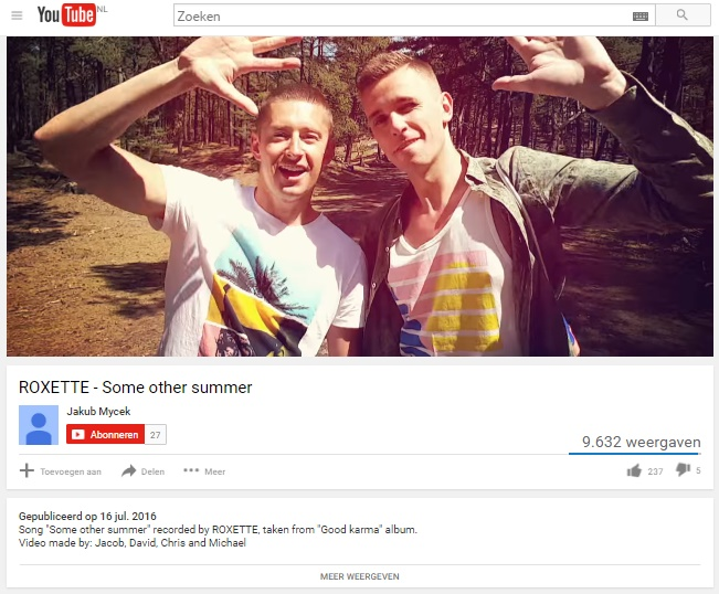 Roxette, Some Other Summer, Fanvideo, Gayvideo, Gay friends